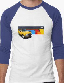 T-shirt Car Art - Yellow Citroen Visa Men's Baseball ¾ T-Shirt