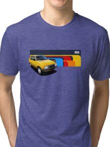 T-shirt Car Art - Yellow Citroen Visa Tri-blend T-Shirt
