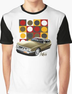 T-shirt Car Art - Citroen SM Graphic T-Shirt