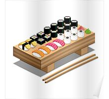 Isometric Sushi Poster