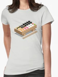 Isometric Sushi Womens Fitted T-Shirt
