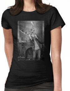 Surreal deer Womens Fitted T-Shirt