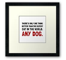 Any Dog Framed Print