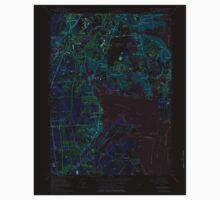USGS TOPO Map Rhode Island RI East Greenwich 353284 1957 24000 Inverted Kids Tee