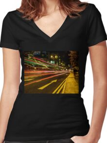 Hammersmith Lights Women's Fitted V-Neck T-Shirt