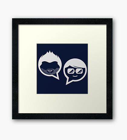 Stubble and The Nerd Podcast Framed Print