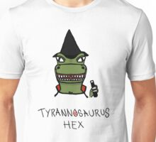 Tyrannosaurus Hex - Front view Unisex T-Shirt