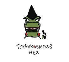 Tyrannosaurus Hex - Front view Photographic Print