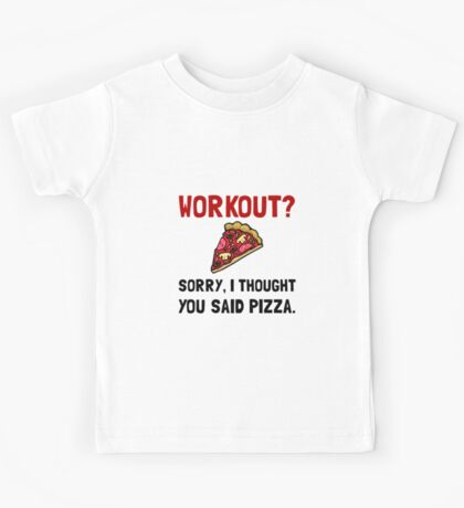 Work Out Pizza Kids Tee