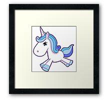 Marshmallow Unicorn Framed Print