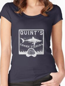 Quints Shark Fishing Women's Fitted Scoop T-Shirt