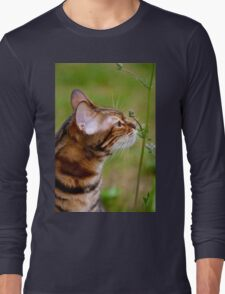 Smelling the flowers Long Sleeve T-Shirt