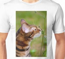 Smelling the flowers Unisex T-Shirt