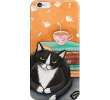 Tea, Books, and Cats iPhone Case/Skin
