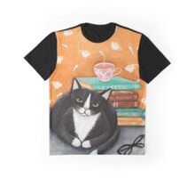 Tea, Books, and Cats Graphic T-Shirt