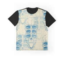 Terrible frightening seamless pattern with skull on antique grunge background Graphic T-Shirt