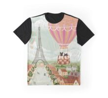 Hot Air Balloon Ride Cats Graphic T-Shirt