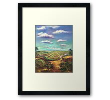 A Canvas, Paintbrush and Memories Framed Print