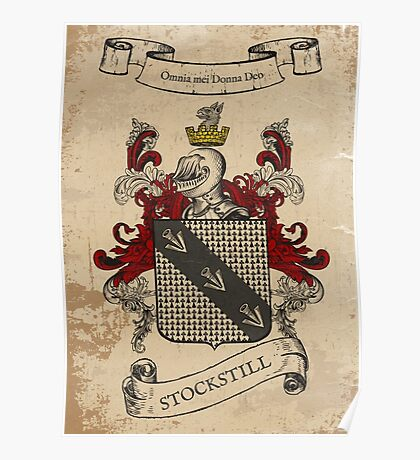 Stockstill Coat of Arms (England) Poster