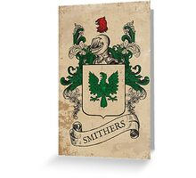 Smithers Coat of Arms (England) Greeting Card