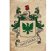 Smithers Coat of Arms (England) Photographic Print