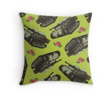 Dicky Bow - Tracks Throw Pillow