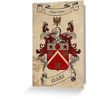 Sears Coat of Arms (England) Greeting Card