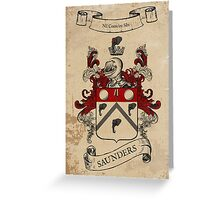 Saunders Coat of Arms (Ireland) Greeting Card