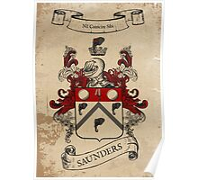 Saunders Coat of Arms (Ireland) Poster