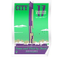 City 17 Travel Poster (green) Poster