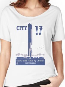 City 17 Travel Poster  Women's Relaxed Fit T-Shirt