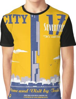 City 17 Travel Poster  Graphic T-Shirt