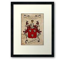 Robertson Coat of Arms (Scotland) Framed Print