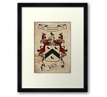 Rice Coat of Arms (Welsh) Framed Print