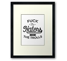 The Trolls - Black Framed Print