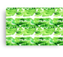 Green Meander Canvas Print