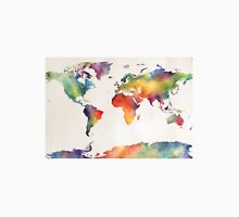 Watercolour world map Unisex T-Shirt