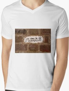 It's cool to be different! Mens V-Neck T-Shirt