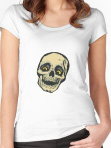 skull cartoon Women's Fitted Scoop T-Shirt
