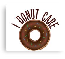 Donut Care Canvas Print