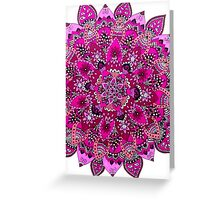Pink & White Mandala  Greeting Card