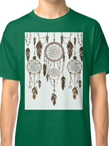 Native American Dreamcatcher Feathers Pattern Classic T-Shirt
