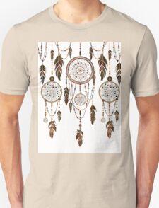 Native American Dreamcatcher Feathers Pattern Unisex T-Shirt