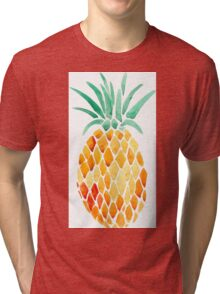 Pineapple Print Tri-blend T-Shirt