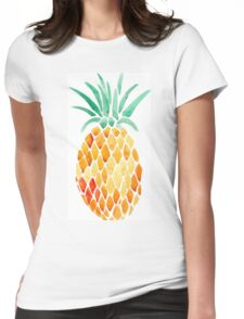 Pineapple Print Womens Fitted T-Shirt