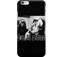 Crystal Castles Cat masks iPhone Case/Skin
