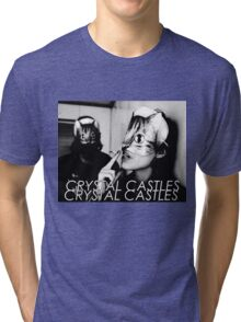 Crystal Castles Cat masks Tri-blend T-Shirt