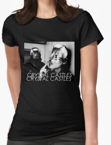 Crystal Castles Cat masks Womens Fitted T-Shirt