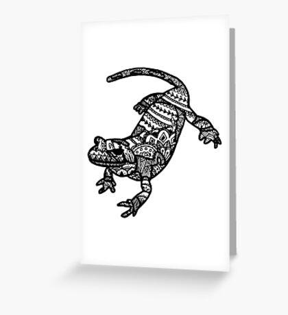 Salamander Greeting Card