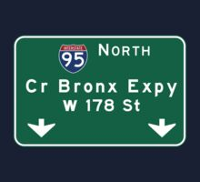 Cross Bronx Expressway, NYC Road Sign, USA Kids Tee